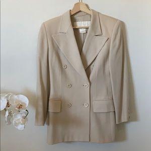 Escada | vintage wool long blazer jacket in cream